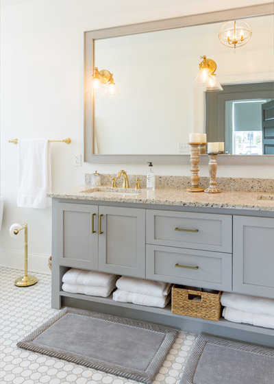 Fancy Transitional Bathroom by Mi Kin Creations Inc