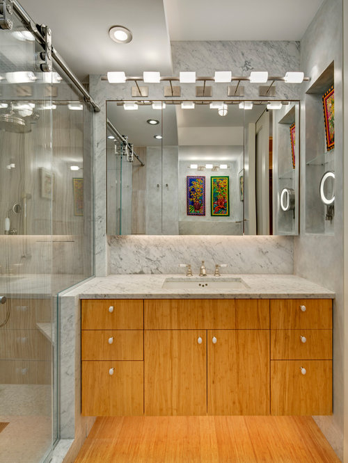 Bathroom design ideas renovations photos with bamboo - Bamboo flooring in kitchen and bathroom ...