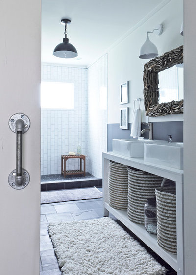 Rustic Bathroom by Julie Holloway. 21 Decorating Ideas for a Chic Bathroom