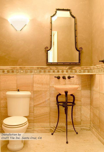 Mediterranean Bathroom by Gallery of Tile and Stone