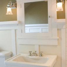 Craftsman Bathroom by CreativeTileDesign