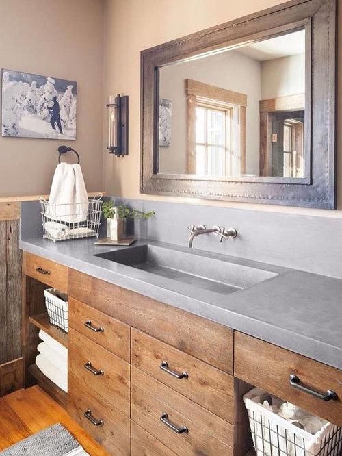 Rustikale badezimmer mit verzierten schr nken ideen - Rustikales badezimmer ...