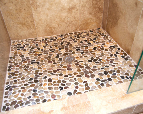 Wet Room Shower Curtains >> Stone Shower Floor Design Ideas & Remodel Pictures | Houzz