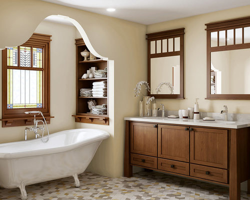Craftsman bathroom design ideas remodels photos for Bathroom ideas 1920s home