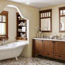 Craftsman Bathroom by Canyon Creek Cabinet Company