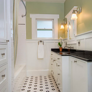 75 Beautiful Craftsman Bath With Black Countertops Pictures Ideas December 2020 Houzz