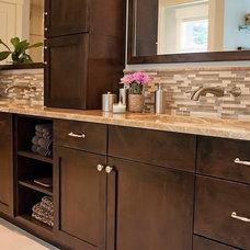 Craftsman Bathroom by Sheila Mayden Interiors