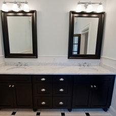 Craftsman Bathroom by Heirloom Design Build
