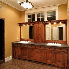 Traditional Bathroom by Wende Woodworking LLC
