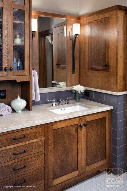 Craftsman Bathroom by CG&S Design-Build