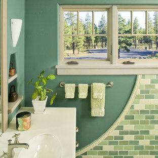 Inspiration for a craftsman subway tile bathroom remodel in Phoenix