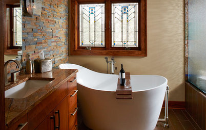 A New Bathroom Gets Arts and Crafts Style and a Soaking Tub