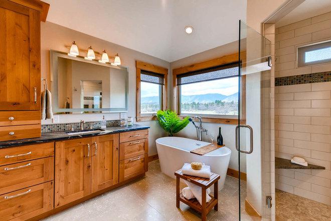 Craftsman Bathroom by Turk Interiors