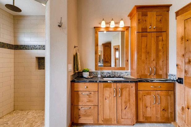 Superb Craftsman Bathroom by Turk Interiors