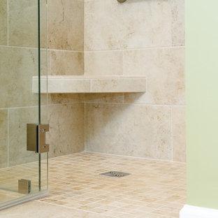 Inspiration For A Mid Sized Craftsman Master Beige Tile And Porcelain Tile  Porcelain Floor And