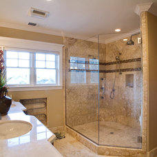 Craftsman Bathroom by Allwood Construction Inc