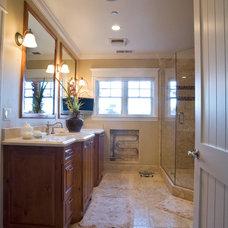 Craftsman Bathroom by Allwood Construction Inc