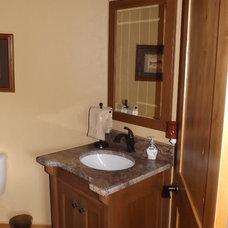 Craftsman Bathroom by The Cabinet Guy LLC
