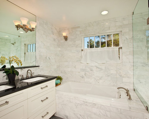 Carrara Marble Bathroom Ideas, Pictures, Remodel and Decor