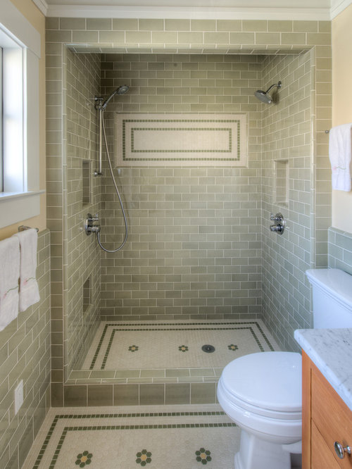 Subway Shower Craftsman Mission Houzz