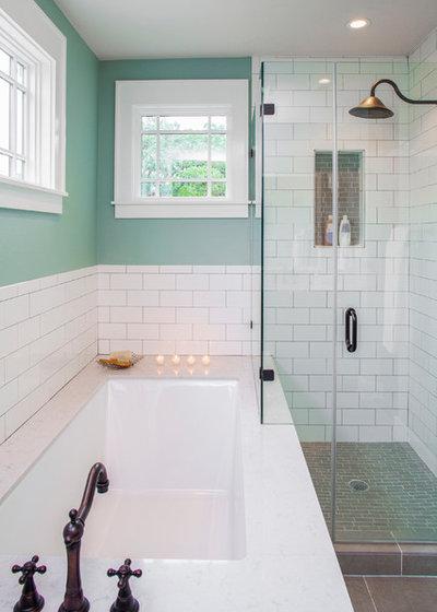 Transitional Bathroom by CG&S Design-Build