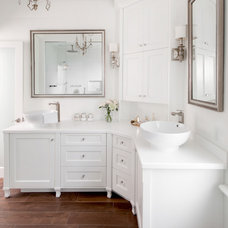 Transitional Bathroom by Stephani Buchman Photography