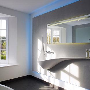 Piastrelle Devon E Devon.Stanza Da Bagno Con Pavimento In Gres Porcellanato Devon Foto