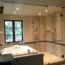 Contemporary Bathroom by Creative AGI Shower Door & Mirror Co