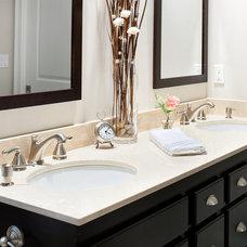 Modern Bathroom Crema Marfil Marble Vanity