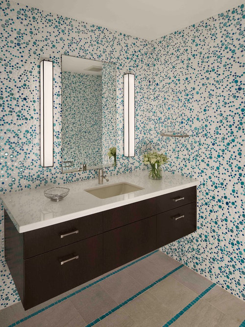 Mosaic Tile Accent Band | Houzz