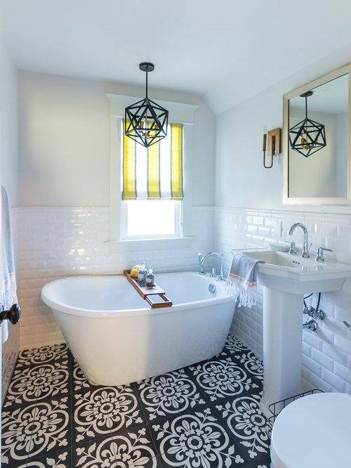 50 Best Traditional Cement Tile Floor Freestanding Bathtub Pictures ...