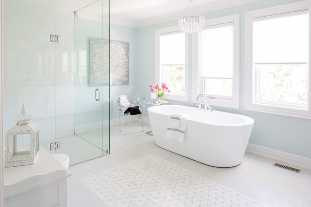 Transitional Bathroom by Lionsgate Design Inc