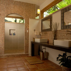 Tropical Bathroom by Legal Eagle Contractors
