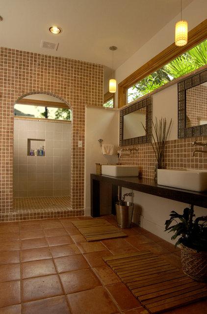 Tropical Bathroom by Legal Eagle Contractors