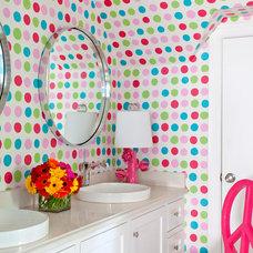 Transitional Bathroom by Tobi Fairley Interior Design