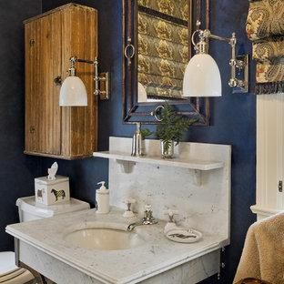 Bathroom - traditional bathroom idea in New York with a console sink