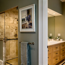 Farmhouse Bathroom by Crisp Architects