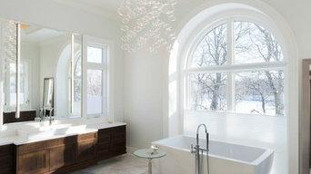 Crisp White Master Bathroom