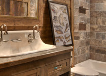 Length and width of bathroom as well s vanity size