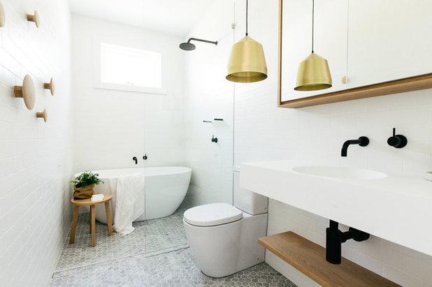 Scandinavian Bathroom by Caroline McCredie