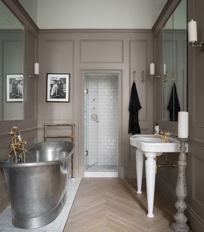 Transitional Bathroom by ZAC and ZAC - Photography