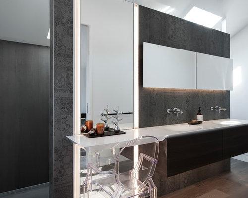 great best diseo de cuarto de bao principal moderno pequeo con lavabo integrado armarios with alicatado baos pequeos with alicatado baos - Alicatado Baos