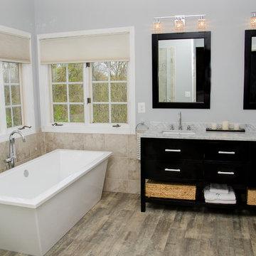 Crystal Blue Persuasion Bathroom Renovation