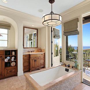 Inspiration for a mediterranean bathroom remodel in Orange County