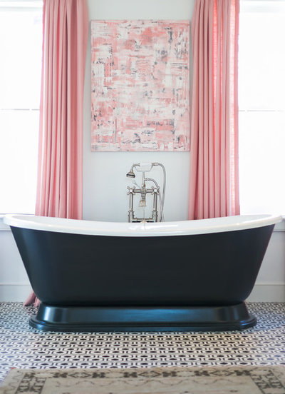 Traditional Bathroom by Lauren Messina Interior Design