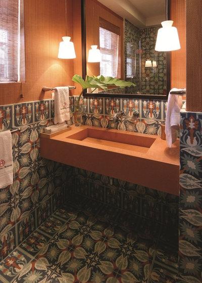 Tropical Bathroom by Avente Tile