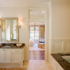 Transitional Bathroom by LaRue Architects