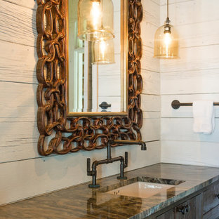 Inspiration for a rustic bathroom remodel in Other
