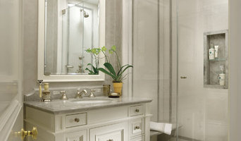 Cullman and Kravis Bath featuring Blue de Savoie marble