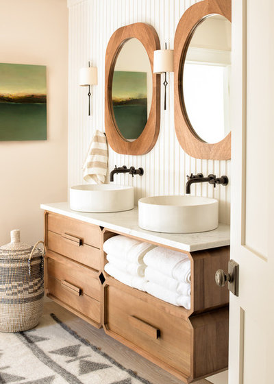 Beach Style Bathroom by Nicola's Home